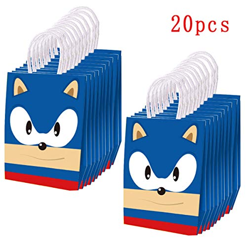 20 Pcs Sonic Inspired Party Paper Bags For Sonic The Hedgehog Birthday Party Supplies Favor Goody Candy Bags Treat Bags For Kids Adults Birthday Party Decoration Buy Online In Sweden At Sweden Desertcart Com