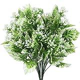 DWANCE 2PCS Plantas Artificiales Planta Falsa de Hoja de Tortuga Artificial Arbusto Verde Decorativas Exterior Interior para Salón, Jardín, Boda, Oficina