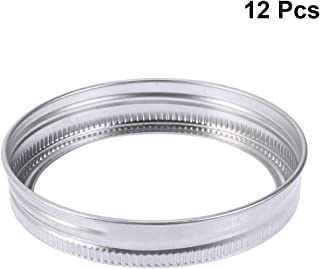 BESTONZON 12pcs Canning Lids Stainless Steel Replacement Jar Lid Tops Canning Jar Rings for Mason Jars Ball Canning Jars