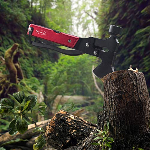 51TNWEp4iQL - RoverTac Multitool Camping Tool Survival Gear Handy Gifts for Men Women UPGRADED 14 in 1 Stainless Steel Sturdy Multi Tool with Axe Hammer Knife Saw Plier Screwdrivers Bottle Opener Durable Sheath