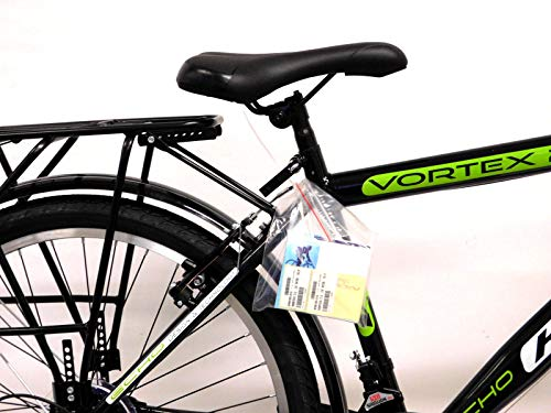KRON 26 Zoll Fahrrad Herrenrad Jungenfahrrad City Bike 21 Gang Shimano Schwarz Grün neu - 3