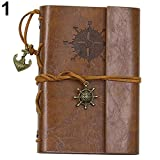 Compision Office Supplies, Notebook Fun Office Supplies, Printed Roses Jersh-School&Office Supplies Diary School Office Supplies (Color : Brown)
