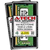 A-Tech 16GB (2 x 8GB) RAM for Intel NUC7i7DNHE NUC Kit | DDR4 2400MHz PC4-19200 1.2V SODIMM Memory Upgrade Kit