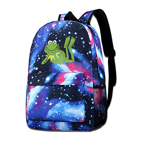 Zxhalkhfd Kermit-The Frog Travel Backpack College School Business Blue One Size