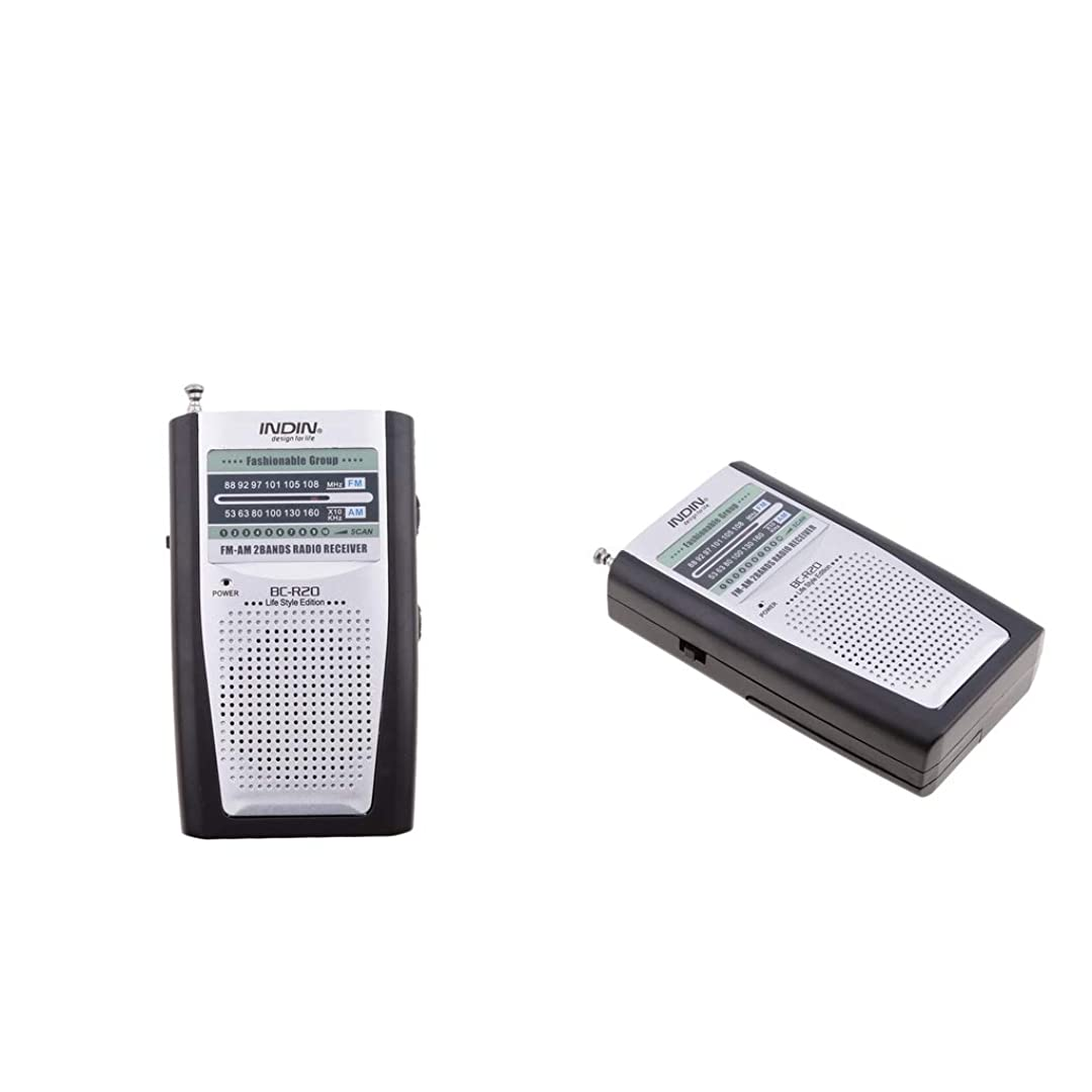 炎上軍シェトランド諸島ミニ AM/FMラジオ受信機 スピーカーレシーバー 携帯便利 使いやすい 2個入り