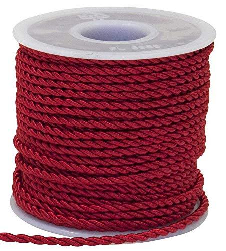 Nastro corda cordino ROSSO 3 mm x 25 metri