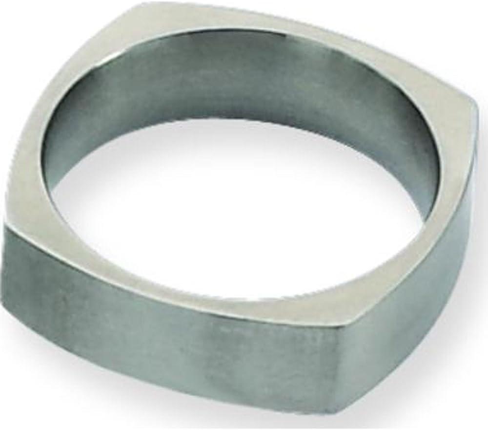 Titanium Square 6mm Satin Mens Wedding Ring Sz 10.5