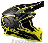Hebo MX Legend Carbon Casco Enduro, Adultos Unisex, Lima, Medium