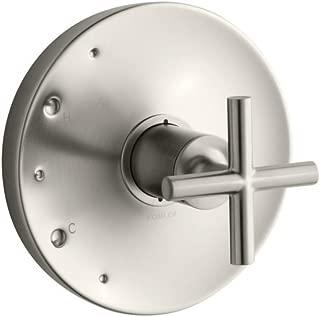 KOHLER TS14423-3-BN Purist(R) Rite-Temp(R) valve trim with cross handle