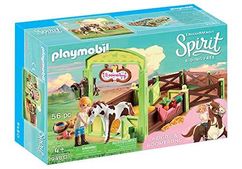 PLAYMOBIL DreamWorks Spirit 9480 Pferdebox Abigail & Boomerang, Ab 4 Jahren
