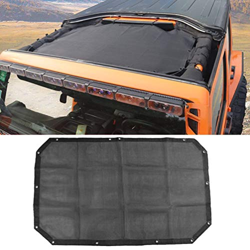 La housse de protection durable en polyester à mailles en polyester offre une protection contre les rayons UV pour le filet Wrangler JK ou JKU à 2 portes (2007-2016).