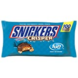 SNICKERS Crisper Fun Size Chocolate Bars Candy,10.61-Ounce Bag (Pack of 12)