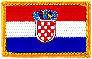 Akacha Toppa Ricamata Bandiera Croazia Croato thermocollant insigne Stemma Backpack