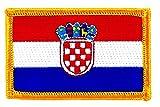 Akacha Aufnäher / Aufbügler, bestickt, mit Kroatien-Flagge, zum Aufbügeln