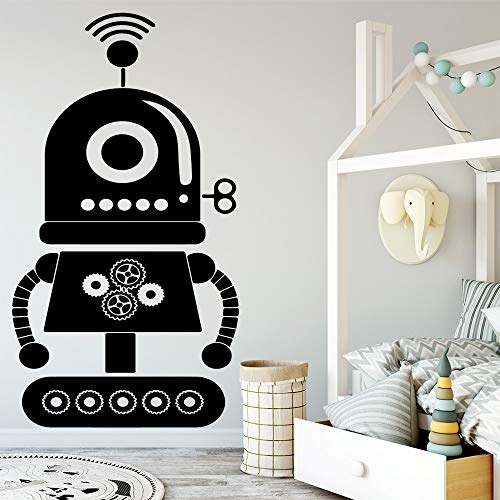 sanzangtang Roboter wandkunst Aufkleber wandaufkleber wandbilder geeignet für Kinder Jungen raumdekoration zubehör Schlafzimmer Dekoration wandaufkleber 45X82,5 cm