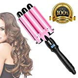 Pink Curling Iron 1 inch 3 Barrel Hair Waver Wand Ceramic...