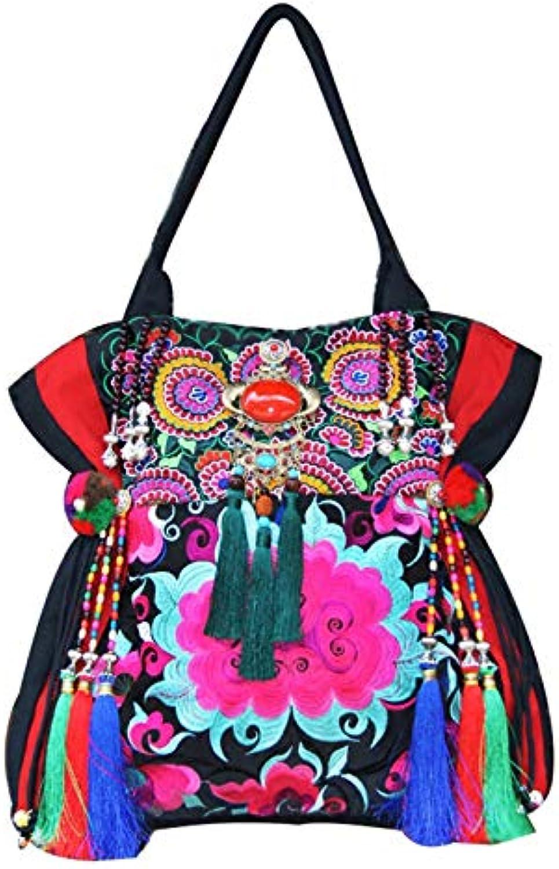 LZH Handtasche, Bestickte Handtasche Umhngetasche 45  45CM
