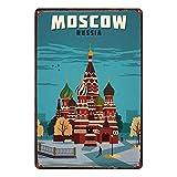 WallAdorn Moskau Russland Eisenposter, Blechschild,