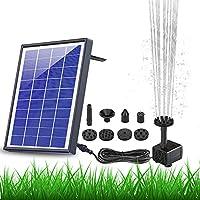 AISITIN Solar Fountain Pump 6.5W Panel Backup Solar Water Pump Floating Fountain, 6 Nozzles, for Bird Bath, Fish Tank,...
