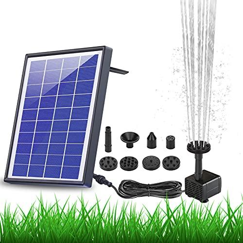 AISITIN Solar Fountain Pump 6.5W Panel Backup Solar Water Pump Floating...
