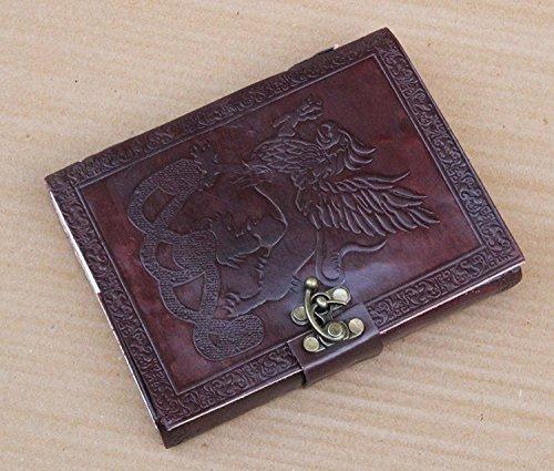 Handmadecraft Carnet/journal intime/carnet de croquis en cuir fabriqué à la main - Feuilles blanches