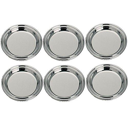 Silver KANNE - 6 sottobicchieri in vetro esterno 11,5 cm interno 8 cm Premium argento placcato argento placcato argento