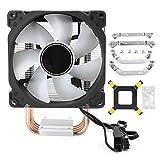 Ventilador de refrigeración de CPU, Enfriador de CPU CR-1400 4 Heatpipes PWM Ventilador de refrigeración de 4 Pines 900-2300 RPM 15-36CFM para Intel/AMD (Enfriador de CPU)