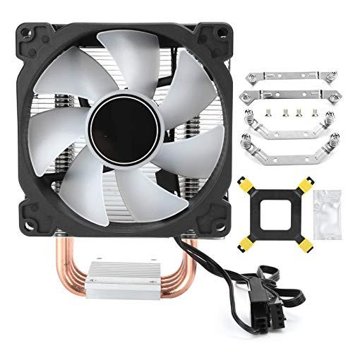 Enfriador de CPU, 4 Tubos de Calor de vacío de Cobre PWM Ventilador de enfriamiento de 4 Pines Ventiladores de enfriamiento de CPU de Color automático para Intel, para AMD(Color automático)
