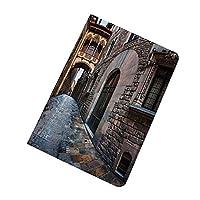 iPad Air 2019 ケース iPad Air3 10.5インチ 中世の装飾 ゴシック地区 ソフトカバー TPU 耐衝撃 傷防止 オートスリープ機能 りスタンド スマートカバー 10.5インチ iPad 対応 橋スペインの古い中世の通りの歴史的遺産過去の写真