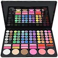 DISINO Motivo 3: kit de maquillaje profesional, paleta de sombras de ojos; cosmética brillante y dinámica (78colores)