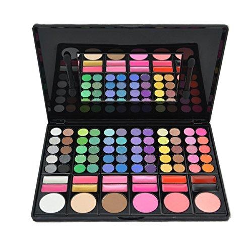 DISINO - Kit per trucco, fard e palette di ombretti, prodotto cosmetico, colori luminosi e dinamici, professionale, 78colori, modello 3