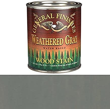 General Finishes Water Based Wood Stain, Weathered Grey, Pint