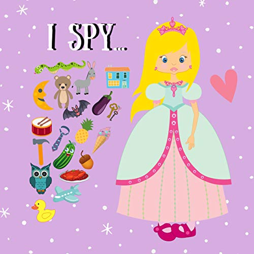I Spy...: Guessing Game Book for Kids 2-5 year old | Picture Puzzle Book for Preschoolers | Violet Alphabet Book | Children's Learning Toys (English Edition)