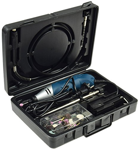 Drill-Flex - Mini taladro (40 piezas, flexible, 105 cm, abrazadera de mesa,...