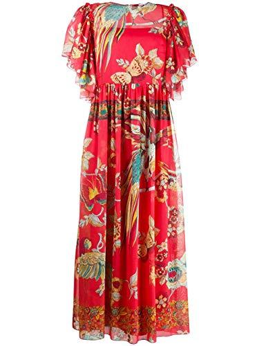 Valentino Luxury Fashion | Red Damen TR0VAP65503R47 Rot Seide Kleid | Frühling Sommer 20