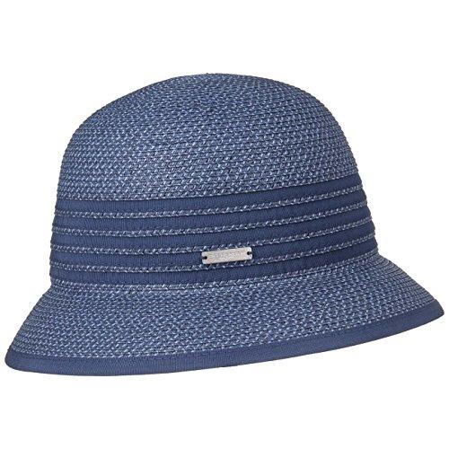 Seeberger Sombrero de Paja Isa Cloche Mujer Cloche (Talla única - Azul-Melange)