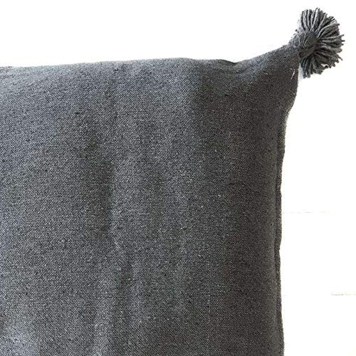 ZH ZocoHome Pompom Cushion Cover | Grey | 60x60cm