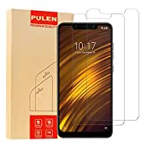 PULEN for Xiaomi Pocophone F1 Screen Protector,0.3MM Slim [Ultra Clear] [Anti-Fingerprints] [Anti-Scratch] 9H Hardness Tempered Glass Film for Xiaomi Pocophone F1 (2 Packs)
