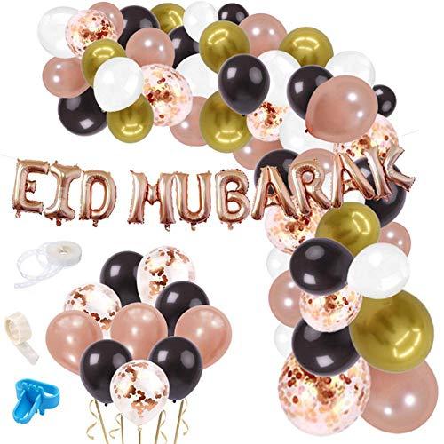 Morningtime Eid mubarak ballon decoratie Ramadan confetti luchtballonnen set aluminium pailletten ballon decoratie voorwaarde voor party festival festival decoratie