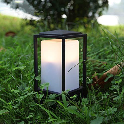 ZGYZ Luces de bolardo Retro E27 Lámpara de Pilar Luces de Camino Diseño de Cubo Lámpara de Metal Lámpara de jardín Patio de césped Balcón Iluminación Exterior (10 * 10 * 21 CM)