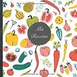 """Mis Recetas: Mi libro de recetas • Libro de cocina personalizado para escribir 100 recetas • 21 x 21 cm • Cuaderno para completar • diseño """"115 ... sus mejores recetas en este libro de cocina!"""