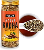 YOGAFY - Ayush Kadha with Whole spices and Tulsi Leaves | Immunity Booster Herbal Tea | 100g - 50 Cups |