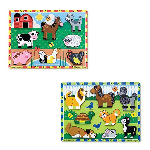 M&D Animal Chunky Puzzles Set are wonderful learning toys for toddlers