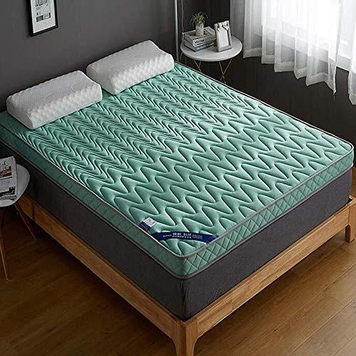 PLOLLD traagschuim topper, Tatami kussensloop, 10 cm, latex, hoge elasticiteit, ademend, slaapkamer, voor studenten, hotel, slaapmatras, mat, slaapkussen 100x200cm(39x79inch) Groen