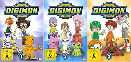Digimon Adventure 01 Volume 1-3 / Episoden 01-54 [DVD Set]