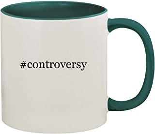 #controversy - 11oz Hashtag Ceramic Colored Inside & Handle Coffee Mug, Green