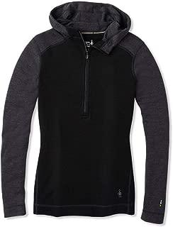 Women's Base Layer Top - Merino 250 Wool Active 1/2 Zip Hoodie
