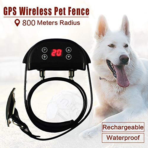 Dog Training Collar Wilreless Fence Anti-Lost Outdoor Radius 800M Satellite GPS Technology Waterproof and Rechargeable