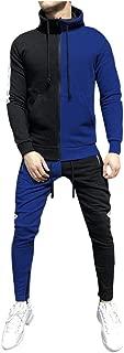 Men's Jogging Full Zipper Tracksuits Long Sleeve Hoodies Gym Joggers Set Colorblock Patchwork Sport Suits