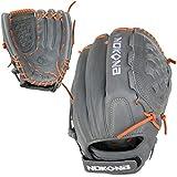 NOKONA AmericanKip Gray Closed Web 12.5 Inch A-V1250C-GR OG Fastpitch Softball Glove (Orange Lacing)